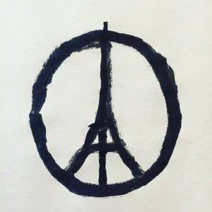 "photo credit to the artist: ""@jean_jullien: Peace for Paris """